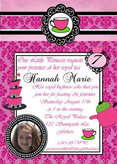 Items similar to Digital Damask Princess Tea Party Photo Invitation on Etsy 3rd Birthday, Birthday Party Themes, Invite, Invitations, Princess Tea Party, Royal Tea, Party Photos, Damask, Party Ideas