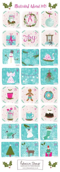 Illustrated Advent 2015 by Rebecca Stoner