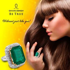 Tag a person you would like to gift this emerald #ring which oozes elegance & luxury in true sense! #Jewellery #Fashion #ArtJewellery