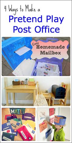 This week I'm excited to feature ways to set up your own pretend play post office in your home or classroom.