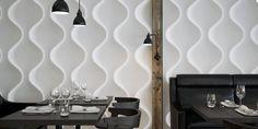 Habillage de mur, tête de lit, personnalisation de meuble, ... un grand nombre de possibilités s'offrent à vous avec les panneaux décors 3D ! Textured Wall Panels, 3d Wall Panels, Panneau Mural 3d, Piece A Vivre, Plaster, Range, Beautiful, Wall Signs, Ship Lap Walls