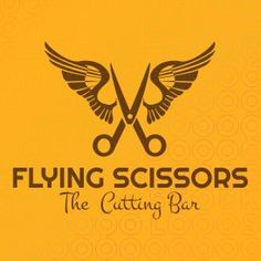 Flying Scissors  #hairdresser  #logo