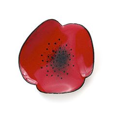 Red Poppy Brooch made from copper and vitreous enamel by Megan Perkins, $153
