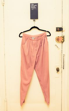Rose satin trousers
