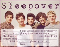 FREE!! INVITATIONS FOR SLEEPOVER PARTY.  This website has other free printable invites to choose from for boys and girls!