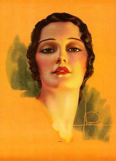 """Sincere"" by Rolf Armstrong, Rolf Armstrong, Estilo Pin Up, Vintage Images, Vintage Artwork, Poster S, Art Deco Era, Pin Up Art, Altered Art, Female Art"