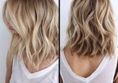 Lob Haircut with Ombre Color