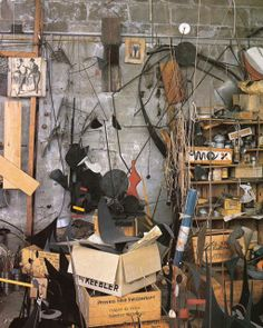 for all you Calder lovers; follow the link to see more of his studio style