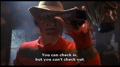 A Nightmare on Elm Street: Dream Master Freddy Krueger, Horror Movie Quotes, Horror Movie Characters, New Nightmare, Nightmare On Elm Street, Horror Icons, Horror Films, Freddy's Nightmares, Most Popular Quotes