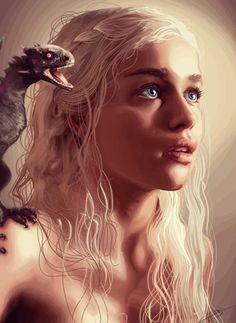 Amazing Daenerys Targerean illustration