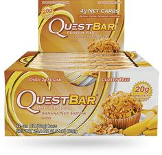 America's Favorite Protein Bar leads the charge in Quest's mission to end metabolic disease. Every delicious Quest Bar flavor has 20-21 grams of protein and plenty of fiber without a lot of unnecessary ingredients or extra carbs. All Quest Bars are gluten and soy free, and contain no added sugar. Quest Bars are helping us inspire a global #CheatClean revolution, reframing the conversation around nutrition. This is the bar that promises food can taste as good as it is good for you. Wit...