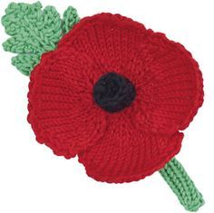 Make a knitted or crochet poppy with our free pattern and wreath-making guide to commemorate those who gave their lives in war Knitted Poppy Free Pattern, Leaf Knitting Pattern, Knitted Flower Pattern, Knitted Poppies, Crochet Patterns Free Women, Knitted Flowers, Flower Patterns, Knitting Patterns, Flower Ideas