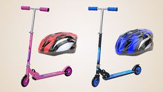 Childrens Stunt or Kick Scooter with Optional Helmet Let them scoot off with the Childrens Foldable Scooter      Available in pink and blue      Choose from kick scooter, stunt scooter or scooter with helmet      Safe and easy to ride; perfect for any child from 5+      Durable metal core wheels and solid steel fork      Kick scooter ideal for beginners      Stunt scooter ideal for more...
