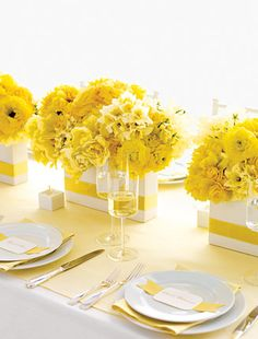 Yellow wedding flowers... myfloweraffair.net