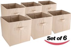 Utopia Home Collapsible Fabric Storage And Display Baskets (Set of 6) $14.91 (amazon.com)