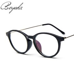 5f5b1d2c40c Brand Unisex Fashion Vintage Round Eyeglasses Metal Temples Frame For  Eyewear Women Myopia Eye Glasses Frame Men Optical Glasses