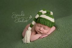 Stocking Hat with Tassel  Knitting Pattern  by LittleTotzDesigns  All patterns are on SALE :)