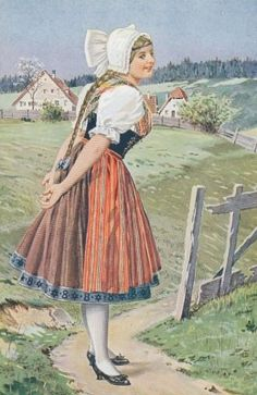 Vintage postcard - girl in Czech costume. Bought in Prague Bohemia Country, Prague Travel Guide, Folk Clothing, Renaissance Era, Central Europe, Folk Costume, My Heritage, Czech Republic, Dance Costumes