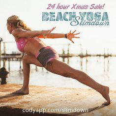For the next 24 hours only, you can get @beachyogagirl's 30 Day Beach Yoga Slimdown plan for 30% off! 8 workouts and 6 guided meditations laid out in a 30 day plan. Made for your mind, body and soul.  codyapp.com/slimdown (link in bio)  In this plan Kerri gives you everything you need to help you lose weight and eliminate stress, anxiety, and food cravings. I'll teach you to connect with your true self, so that you can drop whatever baggage has been holding you back, and keep it off forever…