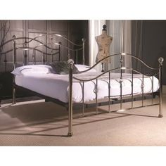 Cygnus Metal Bed Frame with Crystal Finials will be a dazzling focal point in any bedroom. For free, fast delivery, order with FADS now. French Bed, Comfort Mattress, Beds For Sale, Beds Online, Metal Beds, Bed Sizes, King Beds, Bedroom Decor