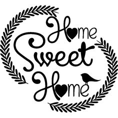 Stickers muraux design - Sticker Home sweet home lauriers - ambiance-sticker.com Stickers Citation, Ambiance Sticker, Stickers Design, Sweet Home, Wall Decals, Acrylic Glue, Unique Home Decor, House Beautiful
