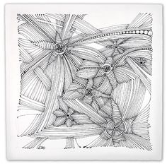 Carol Ohl: Opus tile is Zentangle tile of grand proportion and measures 10.5 inches (27 cm) square