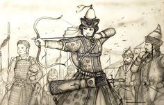 Sevindik Khanum of Desht-i Yurtubi (Cuman-Kypchak) by Gambargin.deviantart.com on @DeviantArt