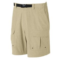 Men's Croft & Barrow® Outdoor Belted Cargo Stretch Shorts, Size: 44, Med Beige