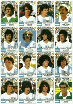 Argentina stickers for the 1982 World Cup Finals. Fifa Football, Best Football Team, Retro Football, World Football, Argentina Team, Argentina World Cup, Argentina Football, Soccer Cards, Football Cards