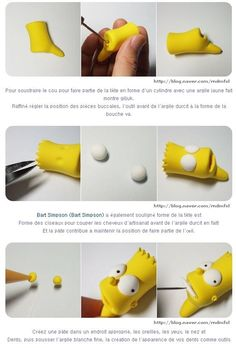 Bart Y Lisa Simpson, Simpsons Cake, Sloth Cakes, Jumping Clay, Oil Pastel Art, Paper Crafts, Diy Crafts, Cute Clay, The Simpsons