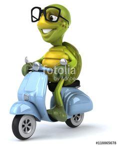 """Téléchargez la photo libre de droits """"Fun turtle"""" créée par julien tromeur au…"""