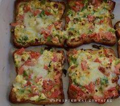ΜΑΓΕΙΡΙΚΗ ΚΑΙ ΣΥΝΤΑΓΕΣ: Λαχταριστές τραγανές φέτες τόστ σαν πίτσα !!!