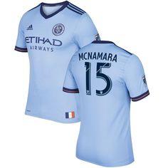 Thomas McNamara New York City FC adidas 2017 Primary Authentic Jersey - Light Blue