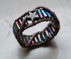 #Schmuck, #Ring, #Perlen, #Stäbchen, #Stern, #bunt, #Regenbogen, jewellery, joyas, bijoux, ювелирные изделия, biżuteria, gioielli, juwelen, koruja, smykker, 珠寶,anillo, anneau, кольцо, anello, rengas, 環,