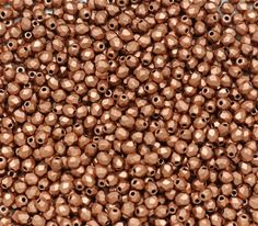 3mm Matte Metallic Copper Faceted Round Beads, Fire polish Czech Glass, Sold 50 Piece Strand - pinned by pin4etsy.com
