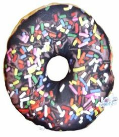 Sweet Dream Pillow-Chocolate Frosted Donut with Sprinkles