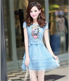 2016 new summer spring Korean fashion slim color sweet elegant ladies dress | eBay