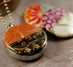 Seamstress Locket Necklace  Quilt  Magnetic Polarity by polarity, $24.00