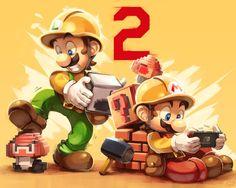 Super Mario Maker 2 by Kaleido-Art on DeviantArt Mario Y Luigi, Super Mario And Luigi, Super Mario Art, Super Mario Brothers, Mario Kart, Nintendo Game, Super Mario Nintendo, Super Mario Games, Mundo Super Mario