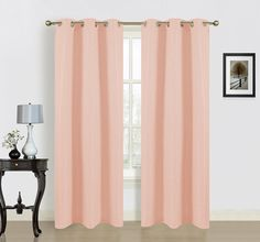 Blended Curtain Panel By Dainty Home In Peach