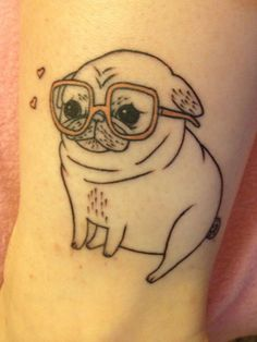 Pug tattoo, unknown artist