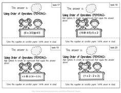 Homeschool Curriculum | Homeschool Math Order of Operations | Math Printable Order of Operations