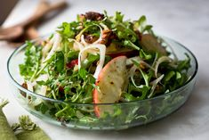 Recipe: Endive and apple salad with spiced walnuts || Photo: Andrew Scrivani for The New York Times