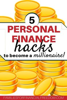 Personal finance hacks to become a millionaire! Find 5 simple steps that will help you save and invest your money … Best Money Saving Tips, Ways To Save Money, Saving Money, Money Tips, Budgeting Finances, Budgeting Tips, Thing 1, Become A Millionaire, Financial Tips