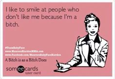 Well... AND because smiles are infectious, but there's a little of the kill-them-with-kindness motive shoved in there too. ☺️ #Smile #TeamBabyFace