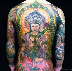 Buddhist style full back tattoo, Buddha tattoos Buddha Tattoo Design, Buddha Tattoos, Back Tattoos For Guys, Full Back Tattoos, Color Tattoo, I Tattoo, Laser Tattoo, Art Tattoos, Nordic Tattoo