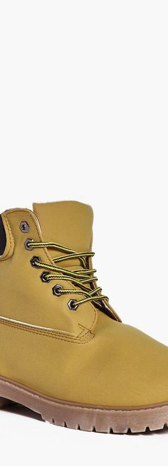 06be4b9f3bc Borg Lined Worker Boots - Footwear - Street Style