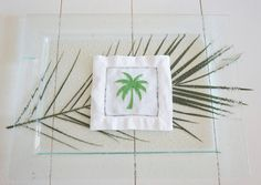 Tropical Cocktail Napkins embroidered by DonovanDesignLinens