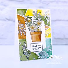 Card Making Templates, Card Making Kits, Card Making Supplies, Card Making Tutorials, Stampinup, Stamping Up Cards, Happy B Day, Geometric Background, Card Making Inspiration