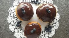 Jan. 3, 2015: CHOCOLATE BLUEBERRY DOUGHNUTS. #vegan www.veggiegalaxy.com